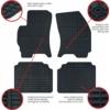 Kép 2/4 - Frogum 0807 Toyota Auris II (2013) gumiszőnyeg fekete