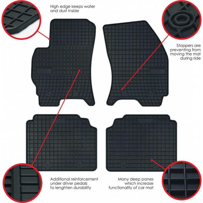 Frogum 0807 Toyota Auris II (2013) gumiszőnyeg fekete